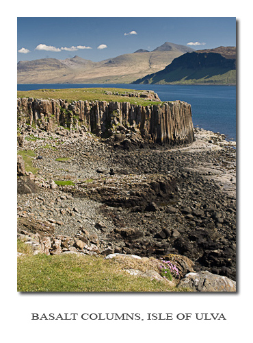 Photo Gallery ~ Basalt Colums on Isle of Ulva